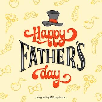 Fondo del día del padre con patrón y lettering