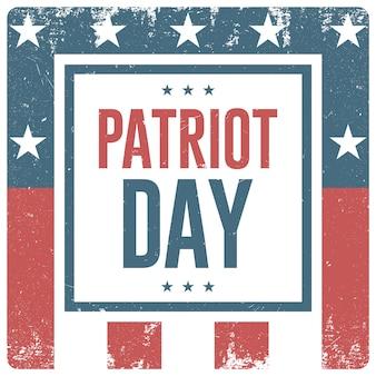 Fondo del día del patriota. vector flyer, pancarta, póster