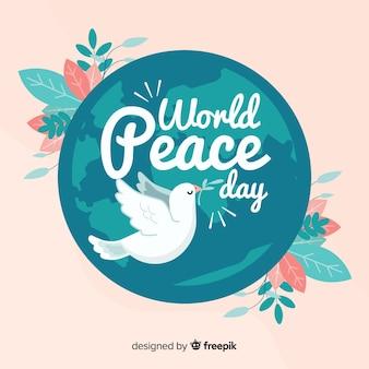Fondo de día de paz de diseño plano