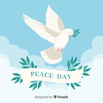 Fondo de día de la paz con paloma