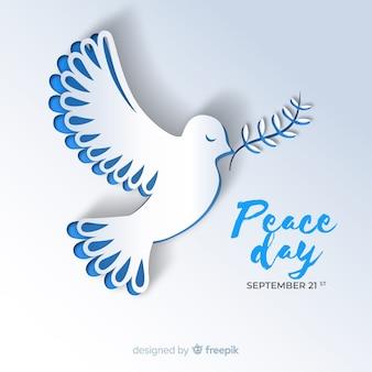 Fondo del día de la paz con paloma