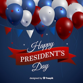 Fondo día del presidente globos realistas