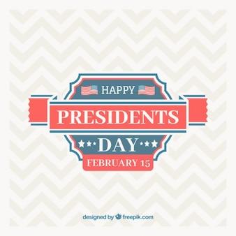 Fondo del día del presidente con líneas en zigzag
