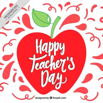 Fondo del día del profesor con manzana