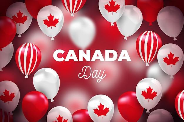 Fondo de día realista de canadá