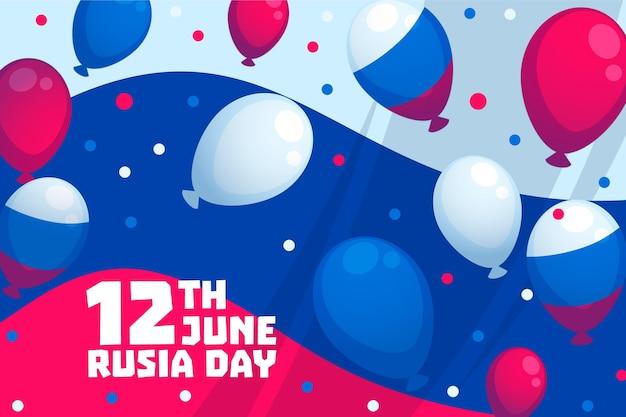 Fondo del día de rusia con globos