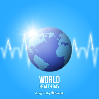 Fondo del día de la salud de mundo realista