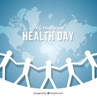 Fondo del día de salud con recortables