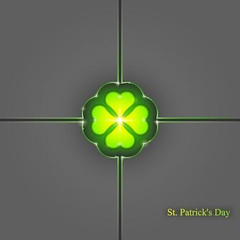 Fondo del día de san patricio, fondo geométrico abstracto