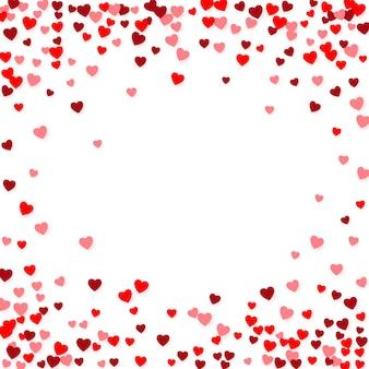 Fondo del día de san valentín con corazones