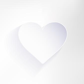 Fondo del día de san valentín con forma de corazón de papel.