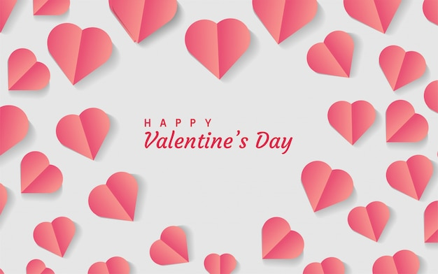 Fondo del día de san valentín en forma de corazón romántico moderno.