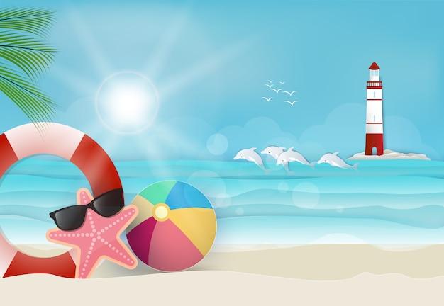 Fondo de día soleado de vacaciones de verano
