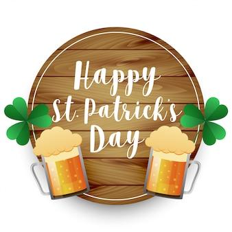Fondo del día de st patrick de las tazas de cerveza