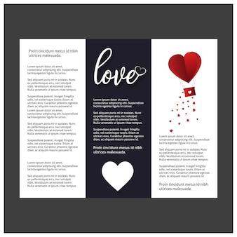 Fondo del día de tarjetas del día de san valentín con el modelo determinado del icono.