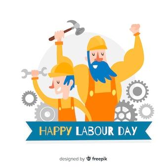 Fondo del día del trabajador dibujado a mano