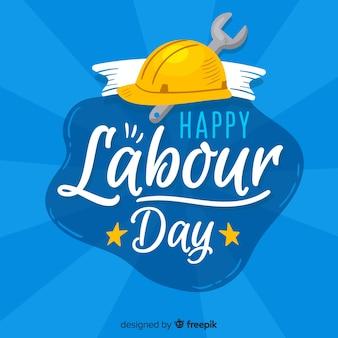 Fondo del día del trabajador dibujado a mano vector gratuito