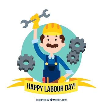 Fondo del día de los trabajadores dibujado a mano
