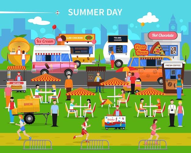 Fondo del día de verano