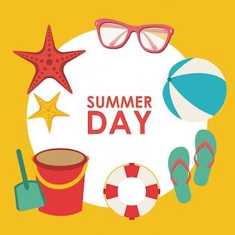 Fondo de día de verano