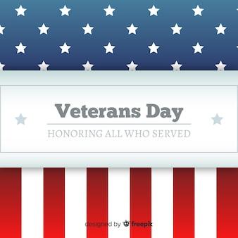 Fondo día del veterano estampado bandera
