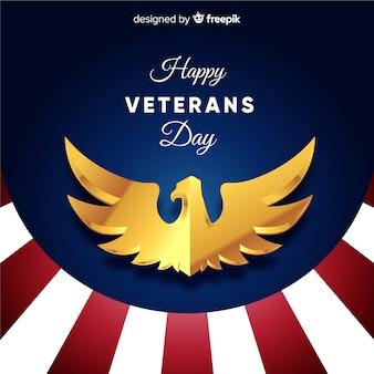 Fondo día del veterano parte inferior a rayas