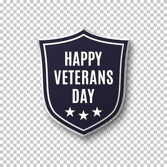 Fondo del día de los veteranos. escudo abstracto. ilustración