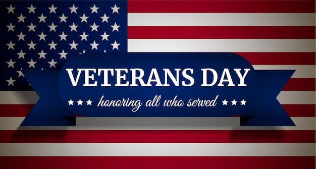 Fondo del día de los veteranos de estados unidos, estilo realista