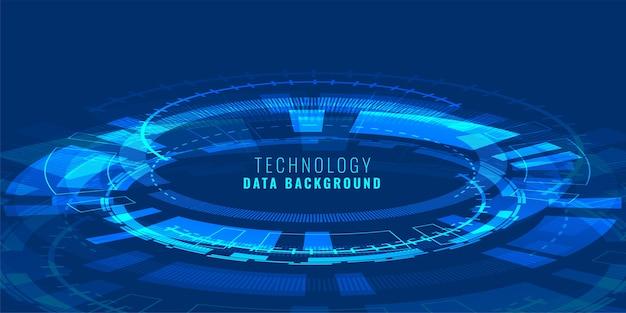 Fondo de diagrama de líneas de alta tecnología de perspectiva futurista