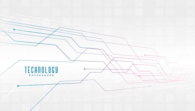 Fondo de diagrama de líneas de circuito de tecnología abstracta
