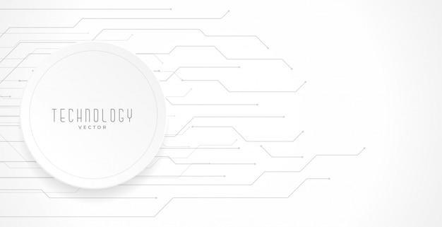 Fondo de diagrama de líneas de circuito de tecnología blanca