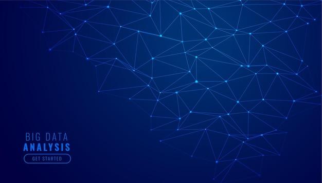 Fondo de diagrama de malla de red de tecnología digital