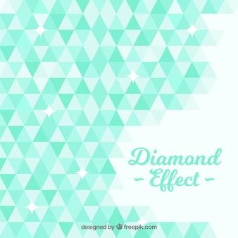 Fondo de diamante con formas geométricas en tonos verdes