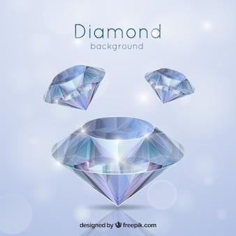 Fondo de diamantes en estilo realista