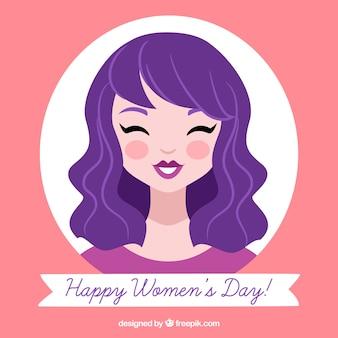 Fondo dibujado a mano feliz día de la mujer