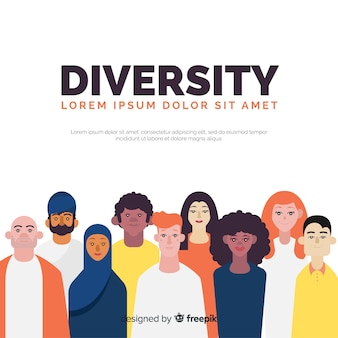 Fondo dibujado a mano concepto diversidad