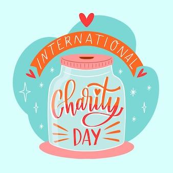 Fondo dibujado a mano día internacional de la caridad
