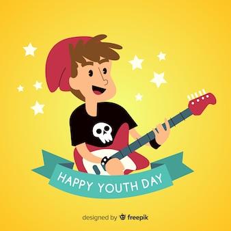 Fondo dibujado a mano día de la juventud