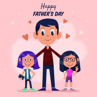 Fondo dibujado a mano el día del padre