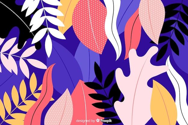 Fondo dibujado a mano con flores de colores