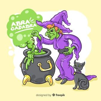 Fondo dibujado a mano para halloween