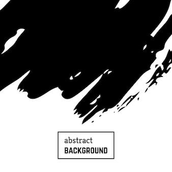 Fondo dibujado a mano con pinceladas abstractas. diseño de banner blanco y negro mínimo. ilustración vectorial