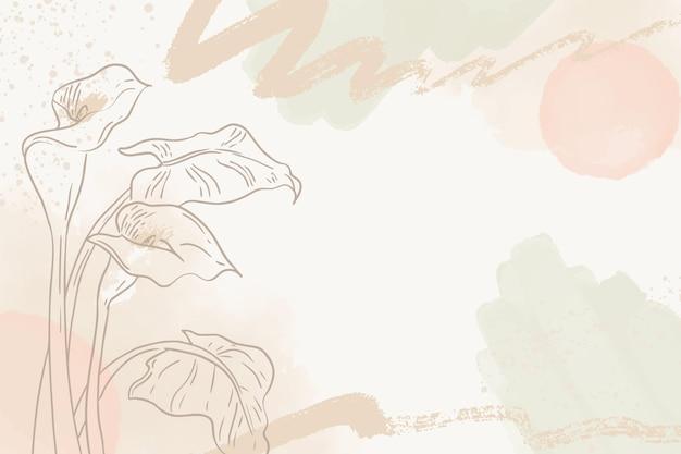 Fondo dibujado a mano con plantas