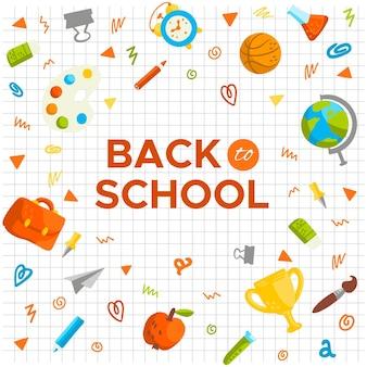 Fondo dibujado a mano regreso a la escuela