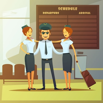 Fondo de dibujos animados de aerolíneas