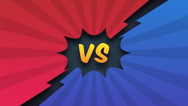 Fondo de dibujos animados cómico versus lucha