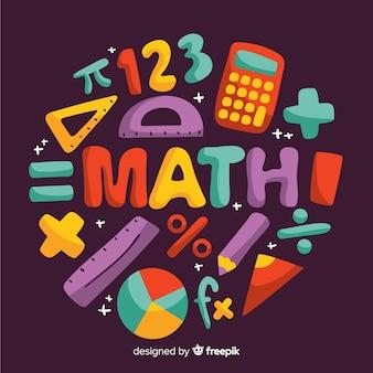 Fondo dibujos animados concepto matemáticas