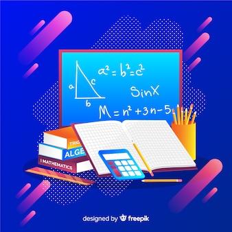 Fondo dibujos animados elementos matemáticas