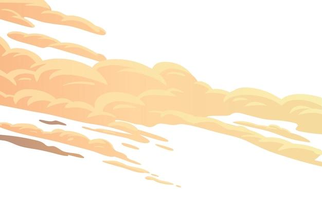 Fondo de dibujos animados de nubes