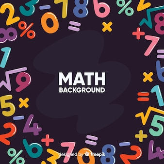 Fondo dibujos animados pizarra matemáticas